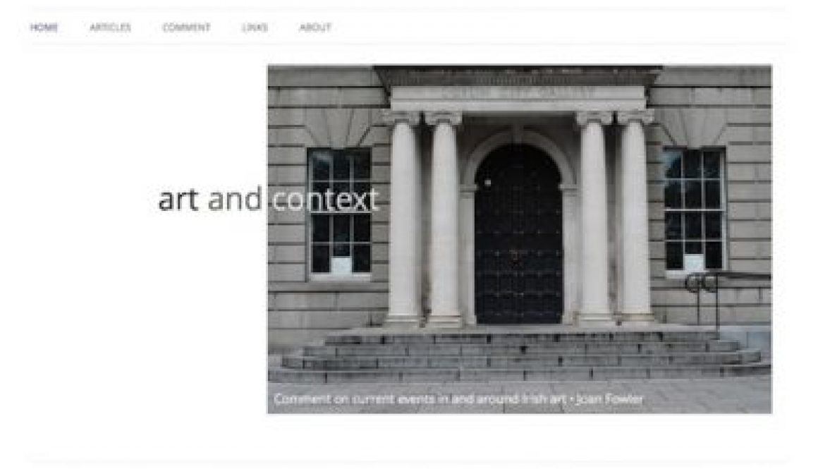 Art and Context Home page