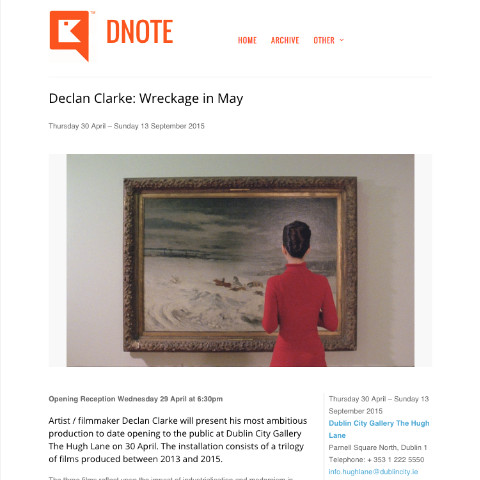 Dnote: exhibition detail page