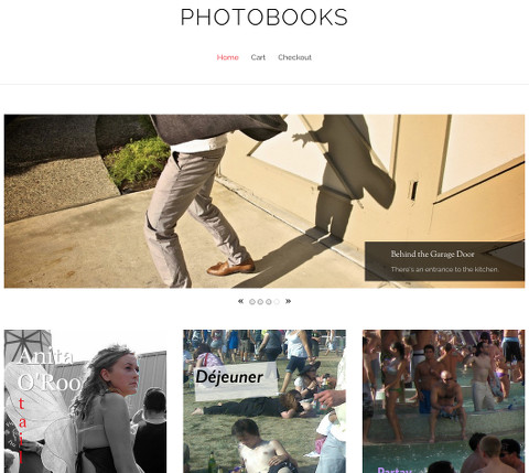 PhotoBooks: top of the Home page
