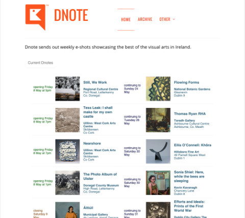 Dnote: the Home page, which focuses on quick information