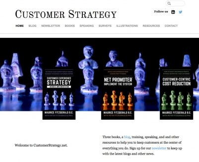 Customer Strategy – Home page