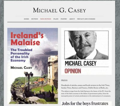 A page from the Michael G. Casey website